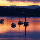 Boats at dusk by Wanagi Zable-Andrews