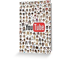 Youtuber Heads Greeting Card