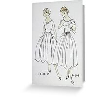 Vogue Dress Patterns 1953 Greeting Card