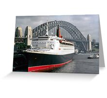 QE2 Luxury Liner Greeting Card