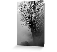 Into The Gloom Greeting Card