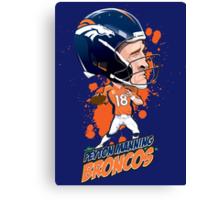 Peyton Manning Broncos Canvas Print