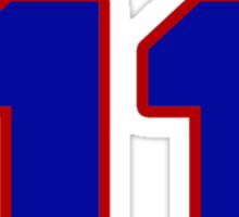 National baseball player Ellie Rodriguez jersey 11 Sticker