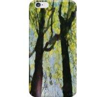 Springtime Morning With Twin Forest Trees  iPhone Case/Skin