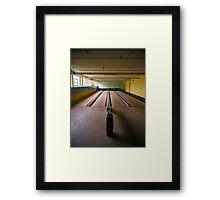 bowling alley Framed Print