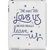 "Harry Potter ""Never leave us"" iPad Case/Skin"
