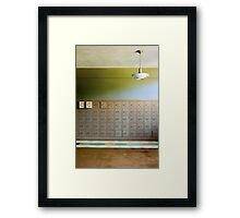 lockers Framed Print
