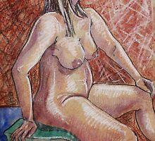 Proud Female Nude (Mixed Media)- by Robert Dye