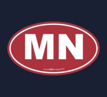 Minnesota MN Euro Oval RED Kids Clothes