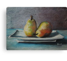 A Pair of Pears Canvas Print