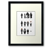 Doctor Who - companions recognition guide Framed Print
