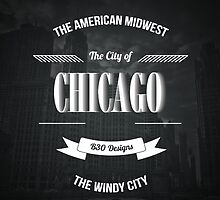 Chicago - The Vintage Windy City Typography Poster by Givens87