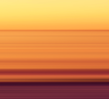 North Sea in sunset colors Sticker