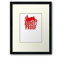 Abbott Proof Red Framed Print