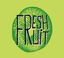 Kiwi fresh fruit illustration  by ONiONAstudio