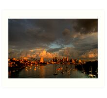 Silence Before The Storm - Moods of A City # 28 - Sydney Australia Art Print
