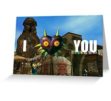 Clock Town (I Mask You) Valentine Greeting Card