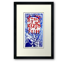 He Has a Lot on His Mind Framed Print