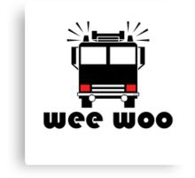 Firetruck Wee Woo Canvas Print