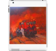 The Vintage Fire Truck and the wonderful band of volunteers iPad Case/Skin