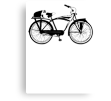 Badger On A Bicycle Canvas Print