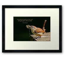 Entrust your works to the Lord . . . Framed Print