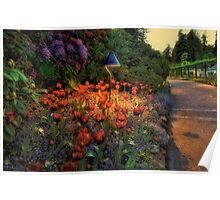 Butchart Gardens at Night 2 Poster