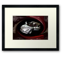 ¸.•*´♥`*•. PROTO TYPE CAR ALFA ROMEO CAR @ DETROIT CAR SHOW PILLOW,TOTE BAG,PICTURE ECT ¸.•*´♥`*•. Framed Print