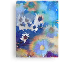 Welcome Spring Abstract Floral Digital Watercolor Painting 2 Canvas Print