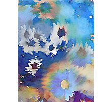 Welcome Spring Abstract Floral Digital Watercolor Painting 2 Photographic Print