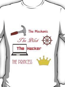 Cinder, Scarlet, Cress, and Winter T-Shirt