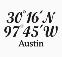 Austin Coordinates T-Shirt