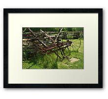 Hay Rake II    Framed Print