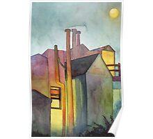 Rear Window Watercolor Poster