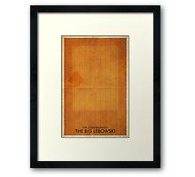 The Big Lebowski Minimal Poster Framed Print