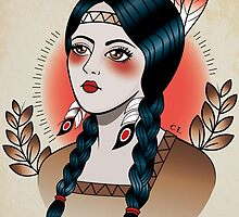 Native American Girl by Killer Wolf