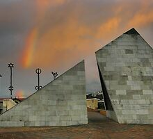 Rainbows and Pyramids by Peter Kurdulija