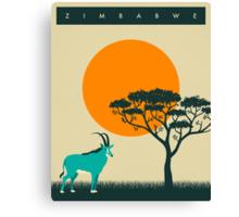 Zimbabwe Travel Poster Canvas Print