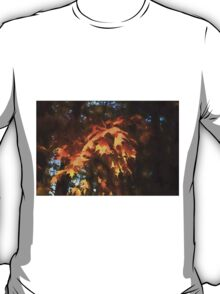 Spotlight on the Golden Maple Leaves - Fall Forest Impressions T-Shirt