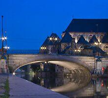 St. Michael's Bridge, Ghent, Belgium by Ann Garrett