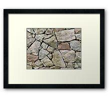 Stone pile Framed Print