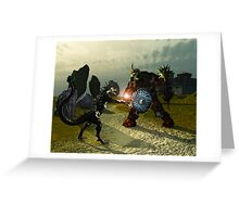 Warriors Of Darkness Greeting Card