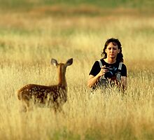 Pam working with fawn by JBrett