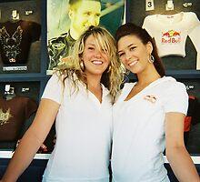 NASCAR RED BULL GIRLS by NEIL STUART COFFEY