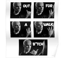 Spike - Out for a walk B!tch Poster