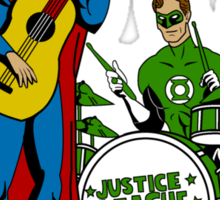 Justice League Rock Band T-Shirt Sticker