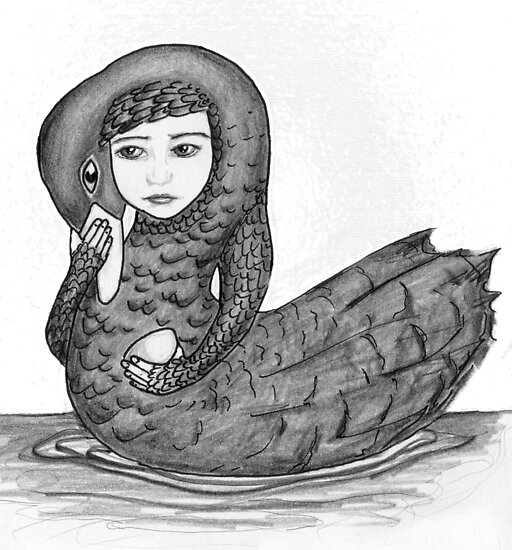 Swan girl from The Children of Lir by Danielle Bain