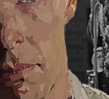 The Imitation Game - Benedict Cumberbatch Digital Portrait  Sticker