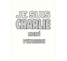 Je Suis Charlie - Stand up to Terrorism Art Print