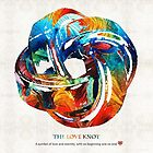 Romantic Love Art - The Love Knot - By Sharon Cummings by Sharon Cummings
